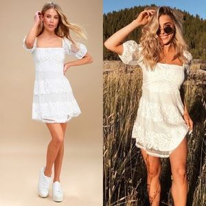 NWT Free People Be Your Baby White Lace Dress